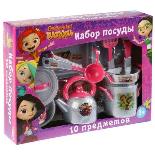 Купить Набор посуды Играем вместе Сказочный патруль B1692818-R серый/розовый, Игрушечная еда и посуда