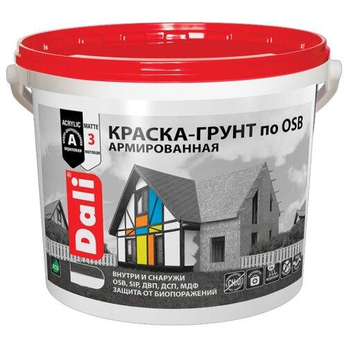 Краска акриловая DALI Краска-грунт по OSB матовая 12 кг 1 (A/BW)