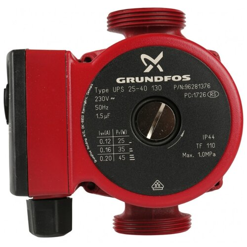 Циркуляционный насос Grundfos UPS 25-40 130 (45 Вт)