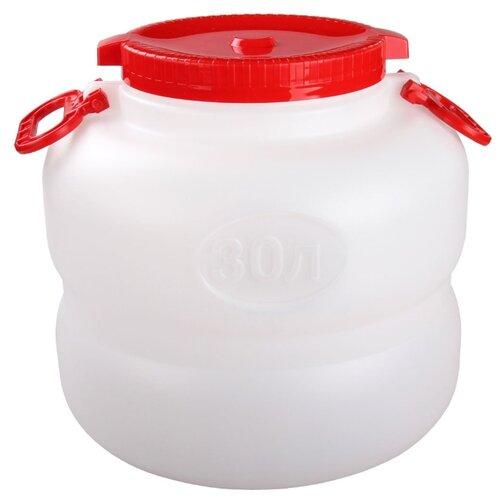 канистра для жидкостей альтернатива бочонок 10 л Канистра Альтернатива М6226, 30 л, бело-красный