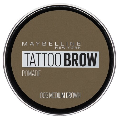 цена на Maybelline New York Стойкая помада для бровей Tattoo Brow Pomade 03, коричневый