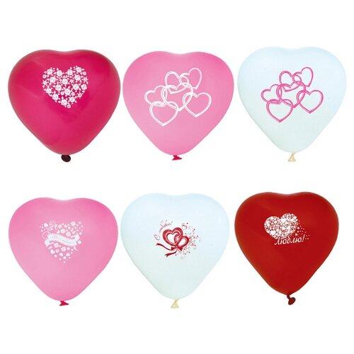 Набор воздушных шаров Action! сердечки (10 шт.) ассорти