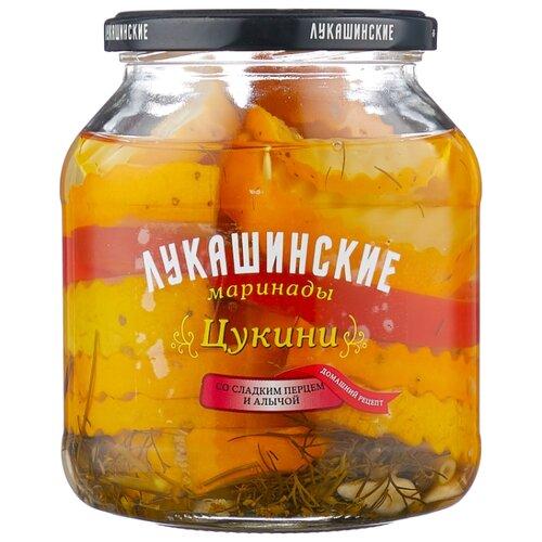 Цукини со сладким перцем и алычой ЛУКАШИНСКИЕ стеклянная банка 670 г