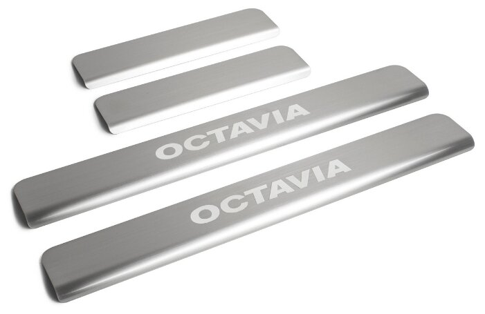 Накладки на внешние пороги для Skoda Octavia A7 (2013 – н.в.) RIVAL NP.5105.3 (комплект 4 шт.)
