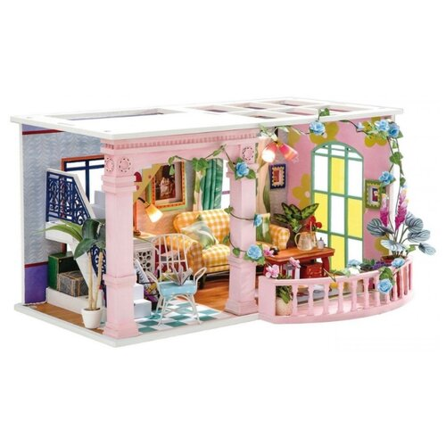 3D деревянный конструктор Миниатюрный дом Милый дворик