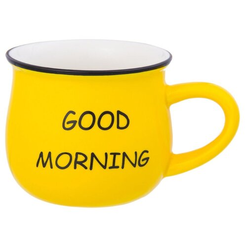 Elan gallery Кружка Доброе утро 400 мл желтый недорого