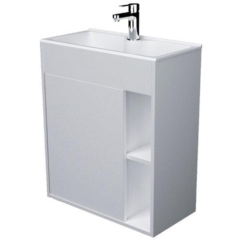 Тумба для ванной комнаты с раковиной 1Marka Lido, ШхГхВ: 71.7х30х60 см, цвет: белый глянец