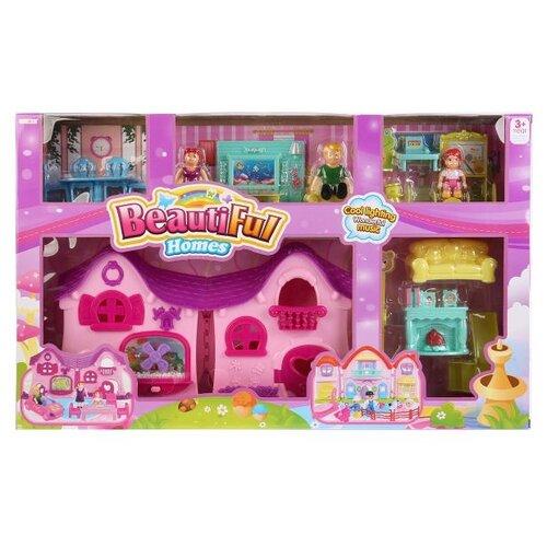 Shantou Gepai Beautiful Homes B1743417, розовый/фиолетовый набор посуды shantou gepai play house b1750458 розовый фиолетовый голубой