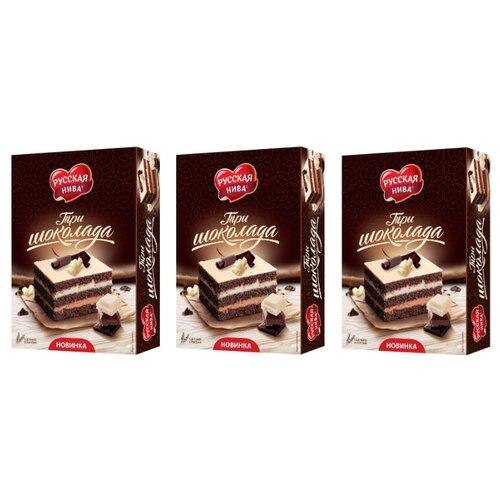 цена на Торт Русская нива Три шоколада 400 г