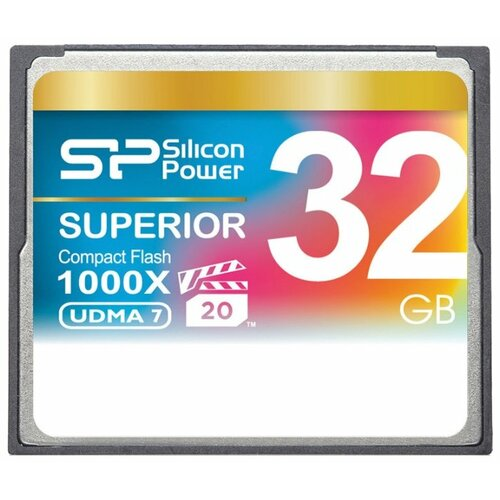 Фото - Карта памяти Silicon Power Superior CF 1000X 32 GB, чтение: 150 MB/s, запись: 80 MB/s флеш карта cf 32gb silicon power 1000x