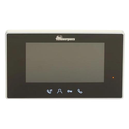 Домофон (переговорное устройство) Телеметрика TLM-4-R0702TJ черный (домофон)