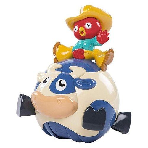 цена на Интерактивная развивающая игрушка Bright Starts Петух-ковбой красный/белый/синий/желтый