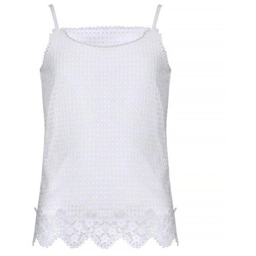 Купить Майка Stefania Pinyagina размер 152, белый, Футболки и майки
