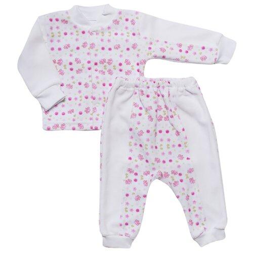 Купить Комплект одежды Клякса размер 24-80, бело-розовый, Комплекты