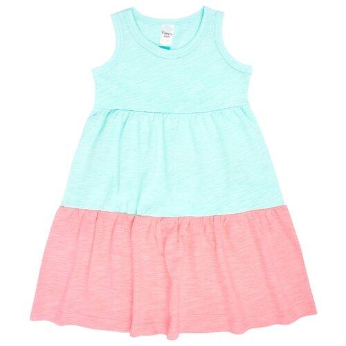 Платье Веселый Малыш размер 122, голубой/розовый