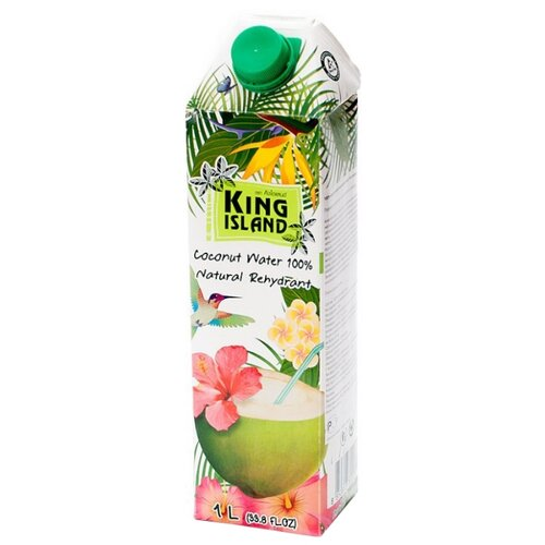 Вода кокосовая King Island 100%, без сахара, 1 л