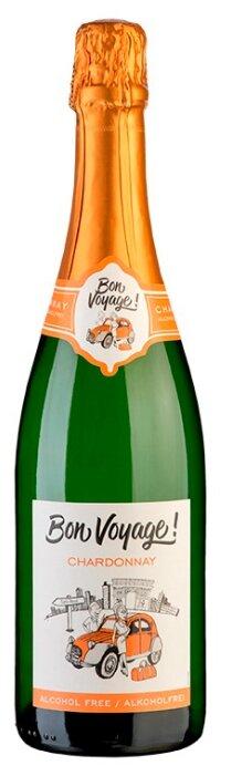 Вино игристое белое сухое Bon Voyage Chardonnay безалкогольное 0,75 л