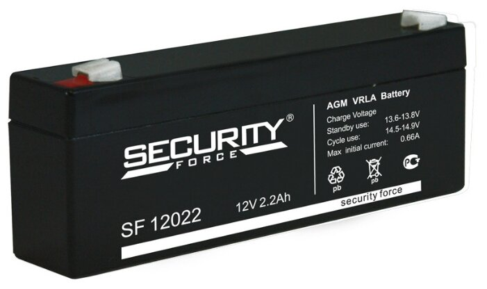 Аккумуляторы Security Force Аккумулятор 12В 2,2 А∙ч (SF 12022)