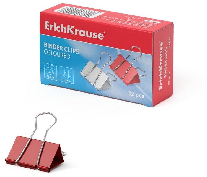 ErichKrause Зажим для бумаг 25мм (25090) (12 шт.)