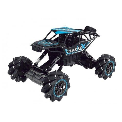 Купить Машинка Пламенный мотор Краулер Дрифт (870449/870450) 36 см черный/голубой, Радиоуправляемые игрушки