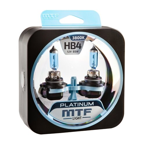 Фото - Лампа автомобильная галогенная MTF Platinum HPL12B4 HB4 (9006) 12V 55W 2 шт. лампа автомобильная галогенная mtf titanium htn12b4 hb4 9006 12v 55w 2 шт