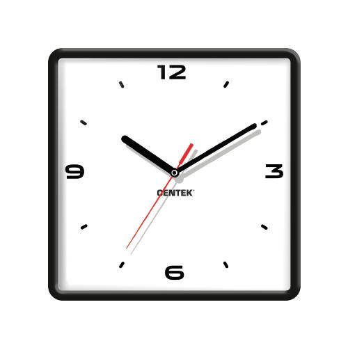 Часы настенные кварцевые CENTEK CT-7103 black