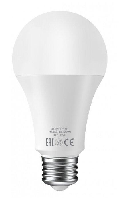 Лампа светодиодная DIGMA DiLight W1, E27, 8Вт фото 1