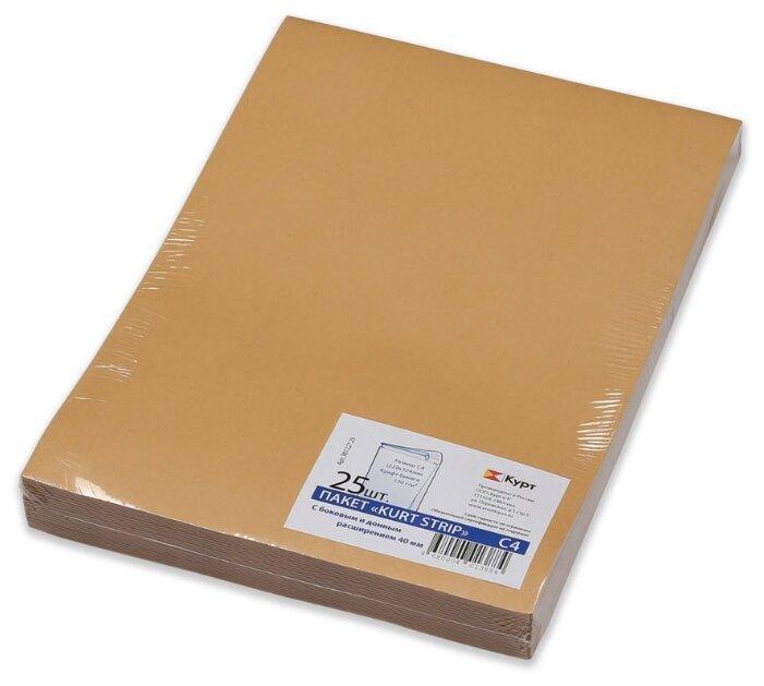 Пакет почтовый C4, UltraPac, 229x324x40мм, коричневый крафт, отрывная лента, 130г/м2