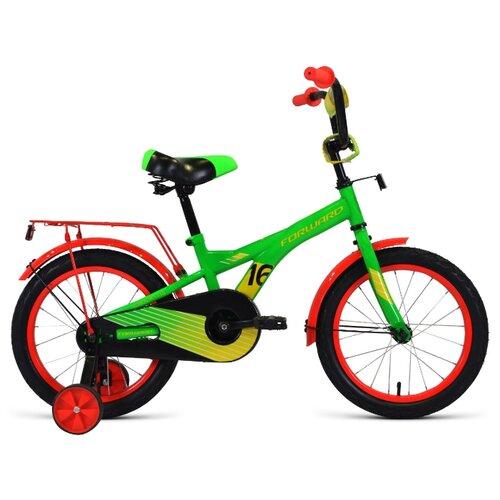 Детский велосипед FORWARD Crocky 16 (2020) зеленый/желтый (требует финальной сборки)