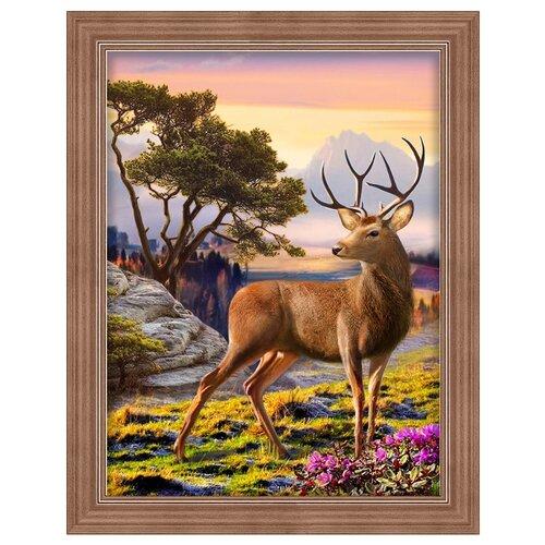 Купить Алмазная живопись Набор алмазной вышивки Благородный олень (АЖ-1692) 30x40 см, Алмазная вышивка