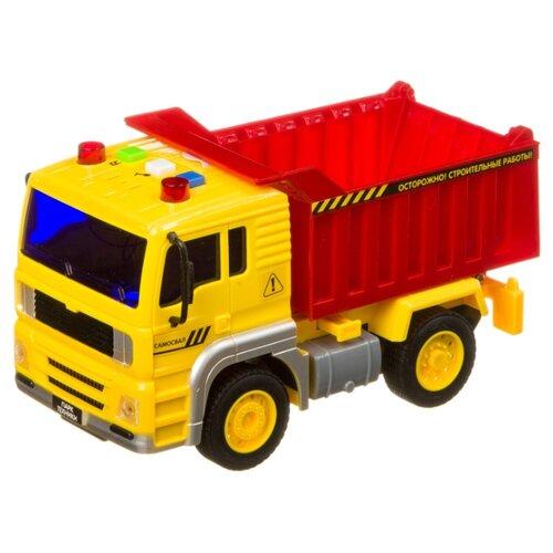 Купить Грузовик BONDIBON Парк техники (ВВ4059) 18 см желтый/красный, Машинки и техника