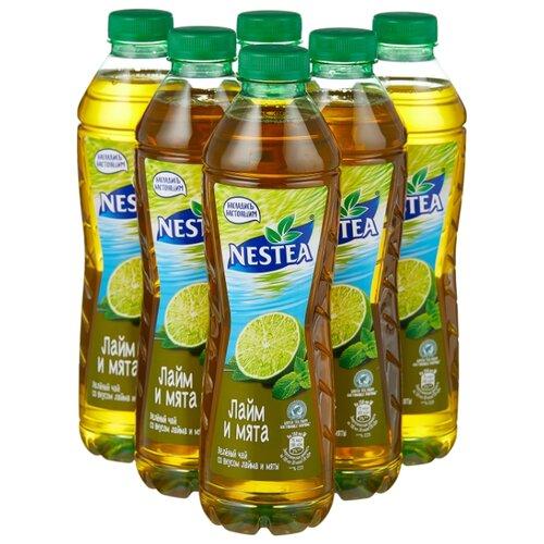 Чай Nestea Зеленый со вкусом Лайма и Мяты, ПЭТ, 1 л, 6 шт.