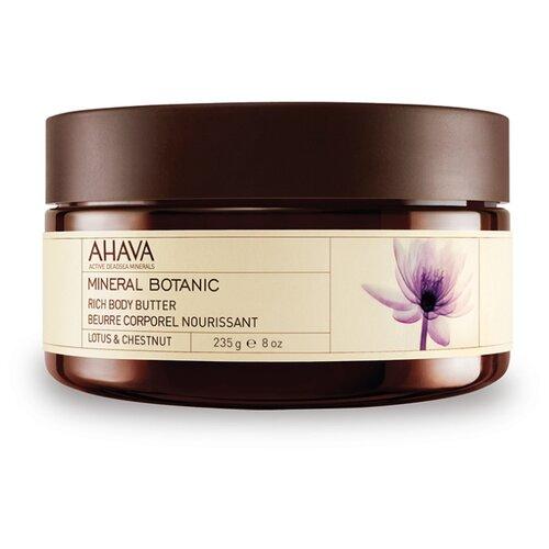Масло для тела AHAVA Mineral Botanic Lotus and chestnut Лотос и благородный каштан, 235 г