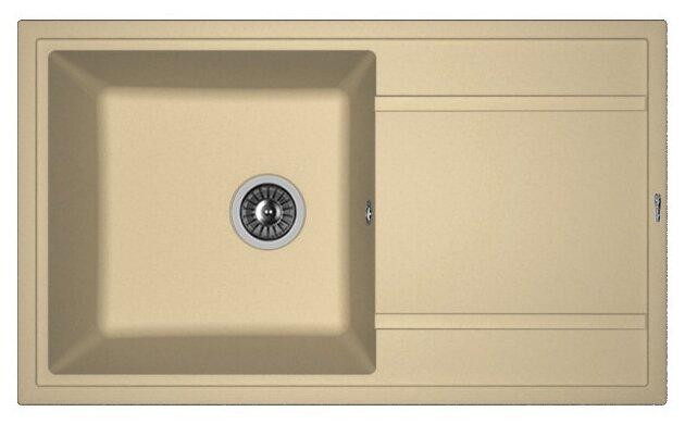 Врезная кухонная мойка FLORENTINA Липси-860 86х51см искусственный гранит