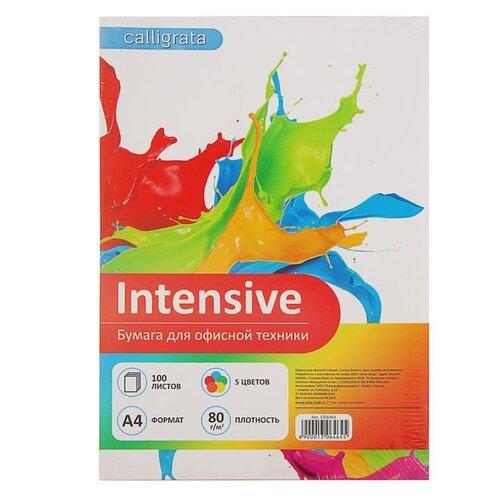 Бумага Calligrata A4 Intensive 80 г/м² 100 лист. 5 цветов 1 шт.