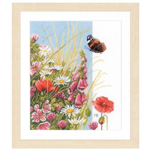 Купить Lanarte Набор для вышивания Wild flowers (Полевые цветы) 24 х 29 см (PN-0144569), Наборы для вышивания