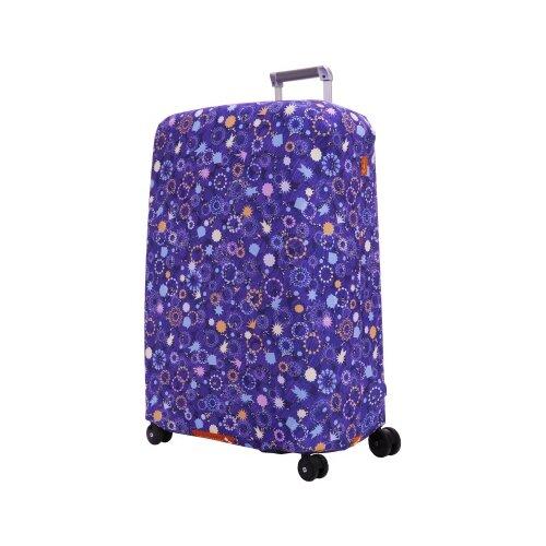 цена Чехол для чемодана ROUTEMARK «Искры и блестки» ART.LEBEDEV SP310 L/XL, фиолетовый онлайн в 2017 году