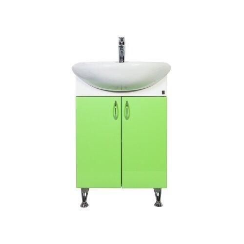 Тумба для ванной комнаты с раковиной Orange Роса Ro-60TU, ШхГхВ: 61.5х47х86 см, цвет: салатовый