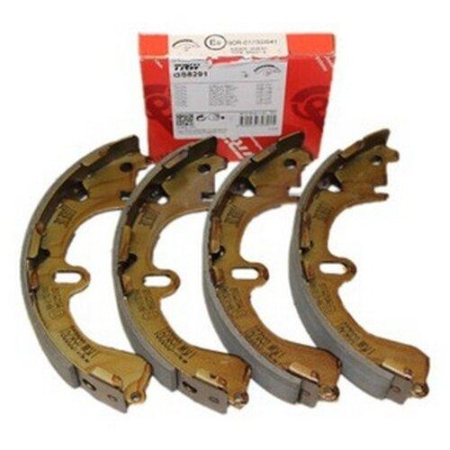 Фото - Барабанные тормозные колодки задние TRW GS8291 для Toyota Corolla, Toyota Caldina, Toyota Raum, Toyota Sprinter (4 шт.) дисковые тормозные колодки задние nibk pn1519 для toyota corolla toyota auris 4 шт