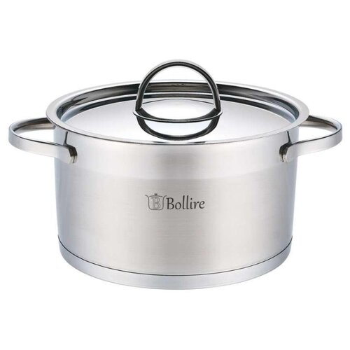 Кастрюля Bollire BR-2302 2,3 л, стальной кастрюля 1757 алюминиевый сплав 2 л