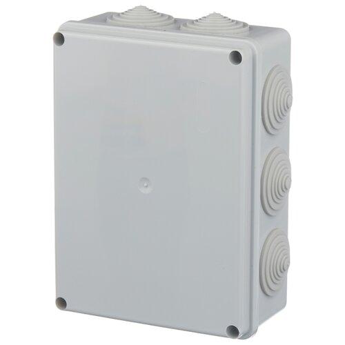 Распределительная коробка IEK КМ41243 наружный монтаж 190x140 мм серый RAL 7035