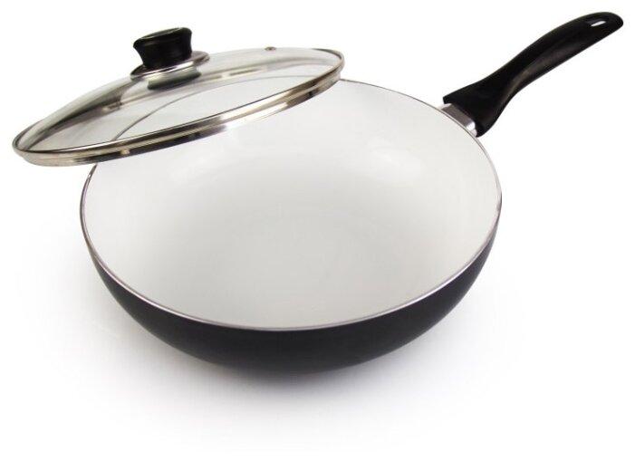 Сковорода-вок Galaxy GL9825 26 см с крышкой — купить по выгодной цене на Яндекс.Маркете