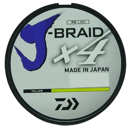 Плетеный шнур DAIWA J-Braid X4 yellow 0.33 мм 135 м 22.4 кг