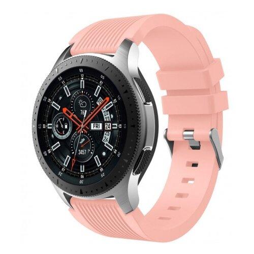 Купить CARCAM Ремешок для Samsung Galaxy Watch Silicone band 46мм розовый