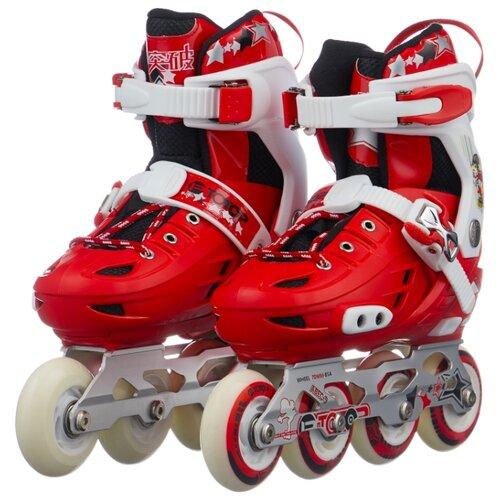 Фото - Раздвижные роликовые коньки Navigator колеса PU, со светом (Т14976/Т14977/Т14978) р. 39 – 43 navigator скейт navigator пластиковый светящиеся колеса в ассорт