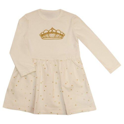Купить Платье KotMarKot размер 128, молочный, Платья и сарафаны
