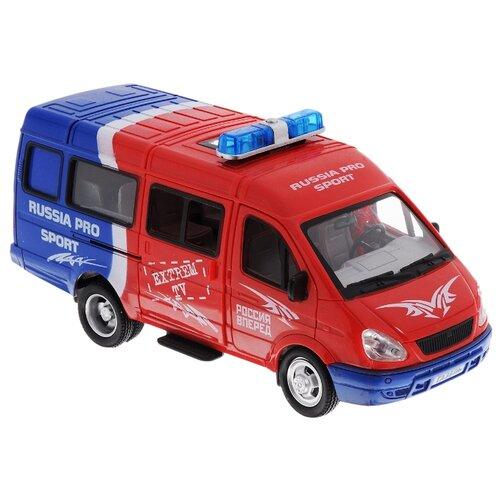 Микроавтобус Joy Toy Автопарк 3221 Газель Russia Pro Sport (A071-H11020) 1:38 красный/синий цена 2017