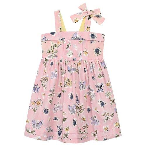 Платье Il Gufo размер 92, розовый/цветочный принт
