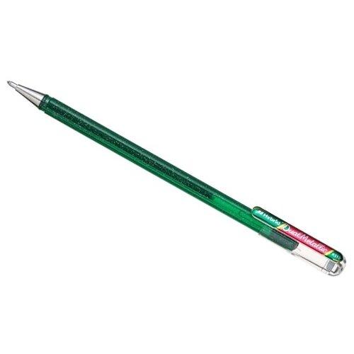 Pentel гелевая ручка Hybrid Dual Metallic, 1.0 мм, красный цвет чернил