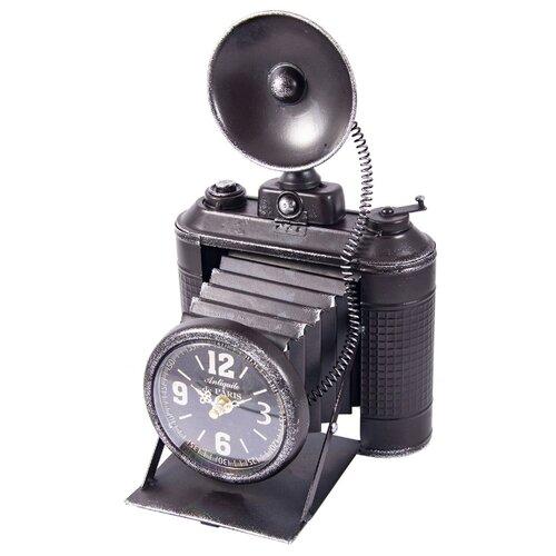 Часы настольные Русские подарки Фотокамера черный